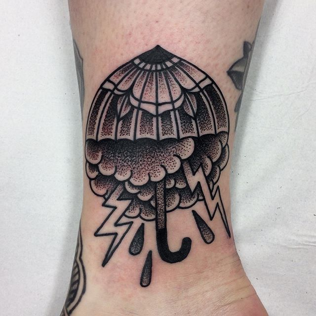 An umbrella, thanks Katri. Few spots left in october, book now: mattesaaritattoo@gmail.com