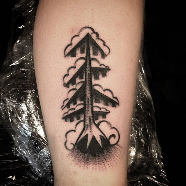 Winter tree made @skellefteatattoofest. Thank you