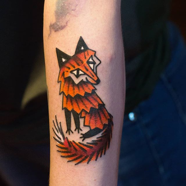 A happy fox. Made @viandentattooconvention