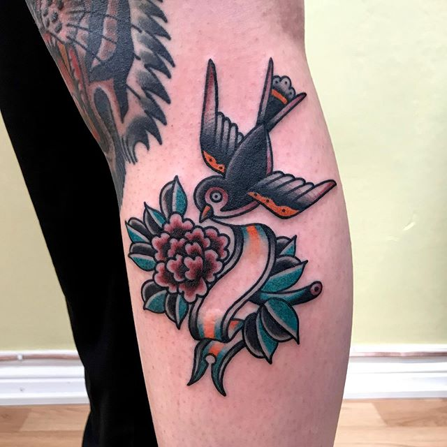 Bird/flower from my flash. Booking for May: mattesaaritattoo@gmail.com
